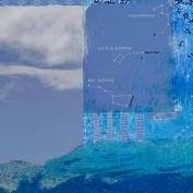 "North Star, 5""x7"", Collage on Matboard"