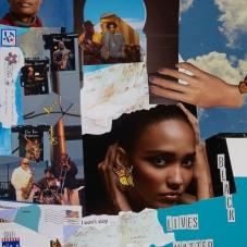 "Black Lives Matter - Collage on Bristol vellum, 17""x14"""