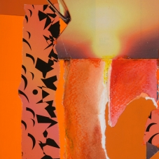 "Orange #2, 7""x5"", Collage on Matboard"