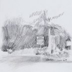 """No Entry - pencil on paper · 8"""" x 6.5"""" - Sold"""