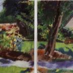 "Varsha's Garden Path - pastel on paper · 19"" x 26"" - Sold"