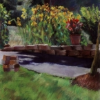"Varsha's Garden - pastel on paper · 32"" x 26"" - Sold"