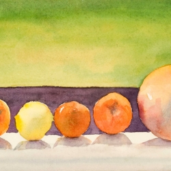 """Follow the Leader - watercolor on Arches paper, 13"""" x 17"""""""