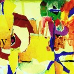 """Why The Muse Speaks - 2006 · gouache, crayon, collage on paper · 11.5"""" x 9"""""""