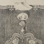 """A Beautiful Beginning 29""""H x 20""""W Pencil on paper"""