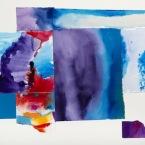 "Composite 7, 20""H x 29""W M/Media collage on archival illustr. board - Sold"