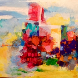 "Enigmatic Environment, 30""H x34""W – Version 2"