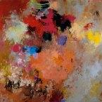 "Lightdance #6 - Grande 2005 · oil, oilstick, oil pastel on birch · 24"" x 24"" - Sold"