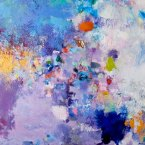 """18_Magic Carpet Ride 4, 36"""" x 34"""" oil/oilstik/ canvas - Sold"""