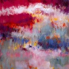 "Radiant, 12"" x 12"", Oil, Pigment Stick, Oil Pastel on Canvas"