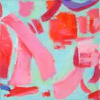 "Big Little 6, 6""x6"", Oil + Pigment Sticks on Canvas - Sold"