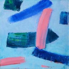 "Big Little 7 , 6""x6"", Oil + Pigment Sticks on Canvas"