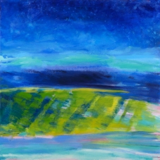 "Nocturnal, 30"" x 30"", Oil + Pigment Sticks on Canvas."