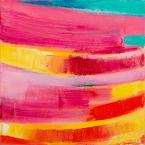 "Big Little 3, 6""x6"", Oil + Pigment Sticks on Canvas - Sold"