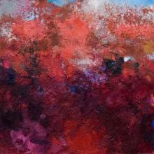 "Reminiscence 2 - 2008-09 · oil, oilstick, oil pastel on birch · 16"" x 16"""