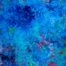 "Illuminated Reminiscence, 48""H x 36""W, Oil, Pigment Stick, Oil Pastel on Canvas"