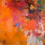 "Manayunk Summer - 2009 · oil, oilstick, oil pastel on canvas · 32"" x 30"" - Sold"