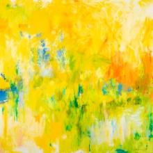 "Untitled (YG), 24""x 24"", Oil + Acrylic on Canvas"