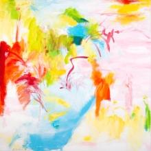 "Untitled (Heron),  24"" x 24"", Oil + Acrylic on Canvas"