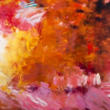 """Influence of Hot Jazz - Oil, pigment stick, oil pastel on Canvas, 48""""H x 72""""W"""