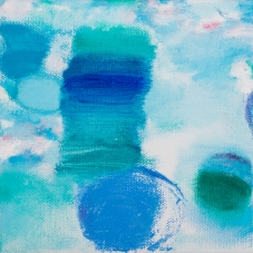 "Big Little 1, 6""x6"", Oil + Pigment Sticks on Canvas"