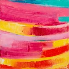 "Big Little 3, 6""x6"", Oil + Pigment Sticks on Canvas"