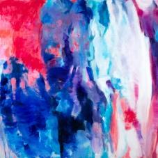 """Langton 2 ,  36""""H x 48""""W, Oil + Pigment Sticks on Canvas"""