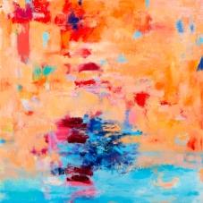 "Venetian Reverie 1, 24"" x 24"", Oil + Pigment Sticks on Canvas"