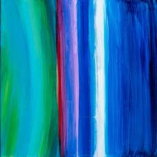 """NM Inspirations 3 + 5 +9 Reimagined, 12""""H x 36""""W, Acrylic on Gessoed Board"""