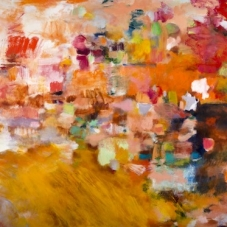 "Pathways Redux, 36""H x 48"" W, Oil, Pigment Stick, Oil Pastel on Canvas"