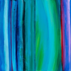 """NM Inspirations 3 + 5 Reimagined, 12"""" H x 24"""" W, Acrylic on Gessoed Board"""