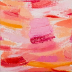 "Big Little 2, 6""x6"", Oil + Pigment Sticks on Canvas"