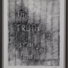 "The Truth Is Hard To Find 3, image 10.5""H x 8.5""W, Pencil on Strathmore Paper"