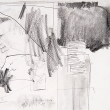"""Untitled (Drawing) - Pencil on Strathmore Paper, 4.5"""" x 6.25"""""""