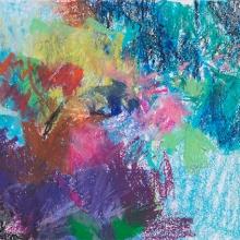 "Cool Study - Caran d'Ache crayon on Acid-free Paper, 5.5"" x 5"""