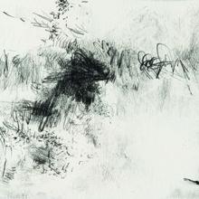 "Diffuse Study - Pencil on acid-free paper, 3.5"" x 5.25"""