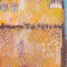 "Ochre Study - (2014) Caran d'Ache crayon on Acid-free Paper, 5.5"" x 6"""