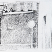 """Stop - Pencil on Strathmore Paper, 3.25"""" x 2.5"""""""