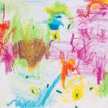 "Warm2Study Caran d'Ache crayon on Acid-free Paper, 5.5"" x 6"""