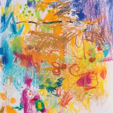"Complex Warm Study Caran d'Ache crayon on Acid-free Paper, 5.5"" x 6"""