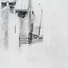 "Peak - Pencil on Strathmore Paper, 8.5"" x 6.375"""