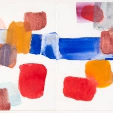 "Sparkler 2 + 3 Linked, 9""H x 17""W, Framed size, Watercolor on Paper"
