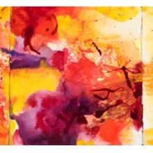 "Nouveau Flamenco -Inspiration Ink, watercolor on Arches paper, 5.5"" x 15"","