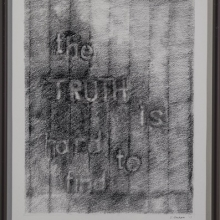 """The Truth Is Hard To Find 3, image 10.5""""H x 8.5""""W, Pencil on Strathmore Paper"""