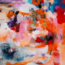 """Confusion Abounds - 17"""" x 23"""", Acrylic, gouache, Caran D'Ache crayons on paper"""