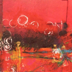 "Rothkoesque Experiment - #1 2010 · acrylic, crayon, ink, collage on bristol vellum · 6"" x 4"" - Sold"